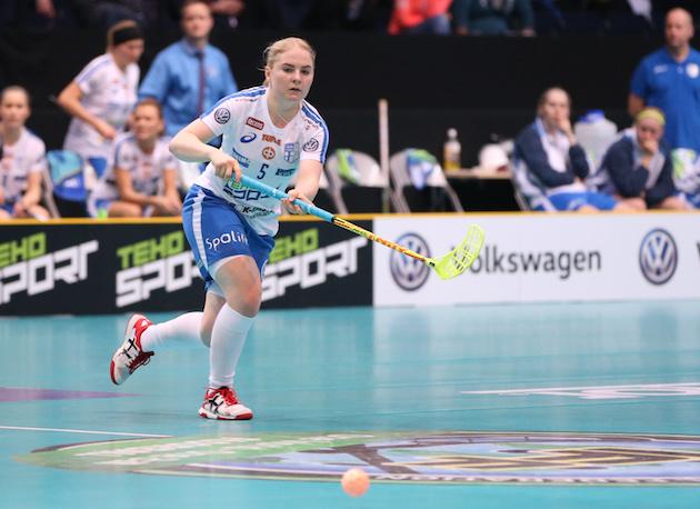 Silja Eskelinen on ollut mainiossa iskussa kisojen kahdessa ensimmäisessä ottelussa. Kuva: IFF.