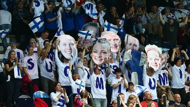 MM-finaaliin odotetaan runsasta yleisömäärää. Välierää seurasi 4676 katsojaa. Kuva: IFF