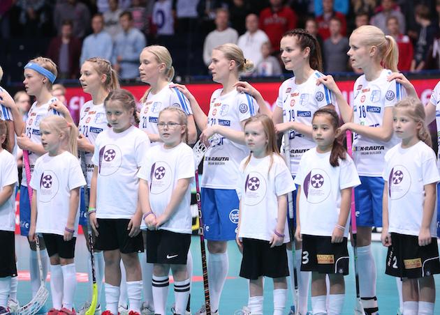 Suomen naiset kohtaavat MM-puolivälierissä Saksan. Kuva: Ville Vuorinen.