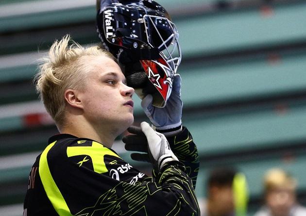 Oilers-maalivahti Joonas Kaltiainen on kantanut joukkueensa ykkösmaalivahdin viittaa tällä kaudella. Kuva: Juhani Järvenpää / Salibandyliiga