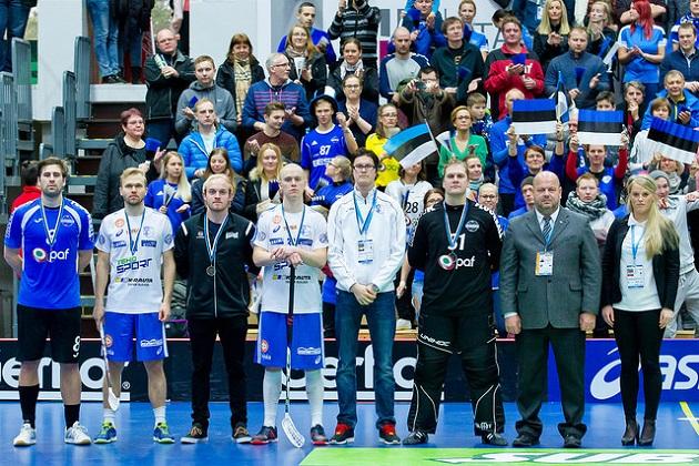 Jami Manninen, Lauri Stenfors ja Petri Hakonen valittiin Suomen MM-karsintalohkon tähdistökentälliseen. Kuva: IFF