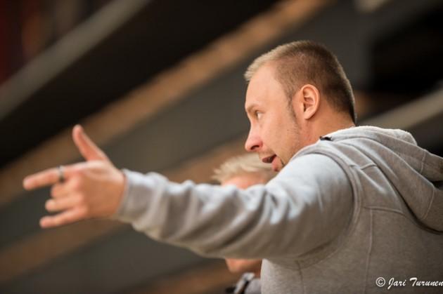 SSRA:n valmentaja Jani Laukko on ollut jokaisella kaudella mukana nostamassa joukkuetta sarjaporrasta ylemmäs. Kuva: Jari Turunen