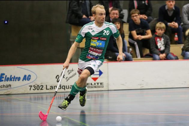 Riku Kekkosen Wiler pelaa finaaliuusinnan jo puolivälierissä. Kuva: Erwin Keller / Unihockey.ch