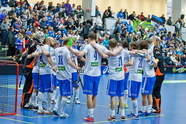 Suomi eteni miesten MM-kisoihin maalierolla 66-5. Kuva: IFF