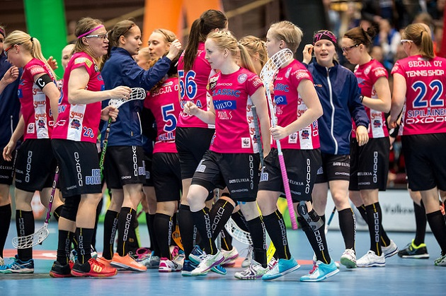 Classic voitti naisten Salibandyliigan runkosarjan. Kuva: Jari Turunen