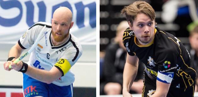 Kumpi näistä herroista kipparoi joukkuettaan ensi kaudella Salibandyliigassa? Kuvat: Elmeri Elo Ja Jari Turunen.