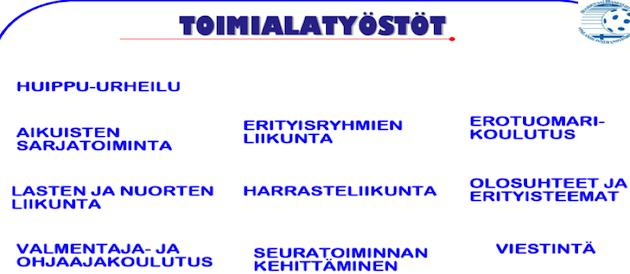 KUVA 5. Suomen Salibandyliitto ry:n strategia 2007–2013 ja strategian toimialatyöstöt.