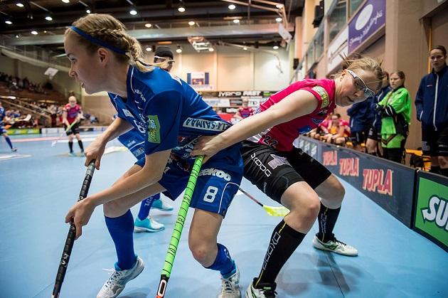 NST ja Classic kohtasivat Suomen cupin finaalissa tammikuussa Jyväskylässä. Kuva: Salibandyliiga