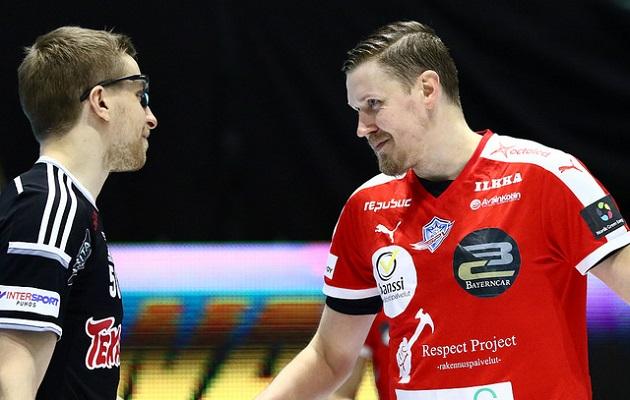 Viikingit ja SPV kohtaavat tällä kaudella jo puolivälierissä. Kuva: Salibandyliiga