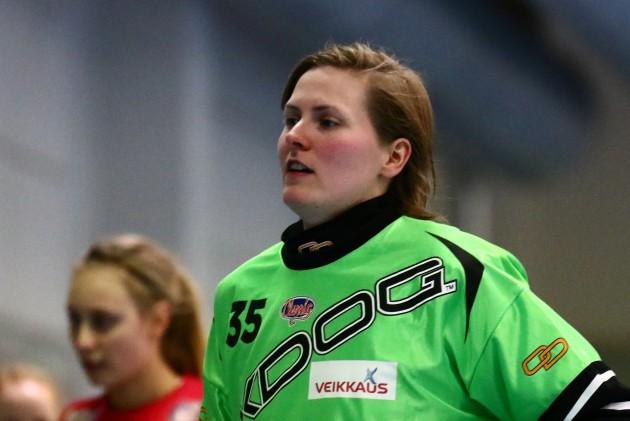 """""""Velhonakin"""" tunnettu Kreeta Lakkala on ollut Classicin luottotorjuja jo usean kauden ajan. Kuva: Juhani Järvenpää"""