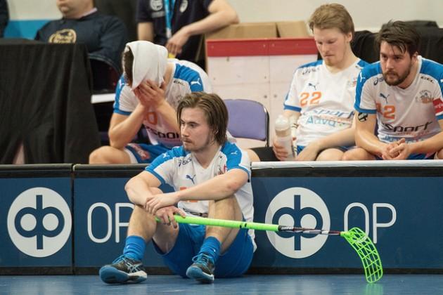 Santeri Lindforsin mukaan Classic oli Superfinaalissa selvästi parempi joukkue. Kuva: Salibandyliiga