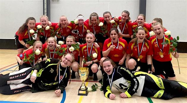 C-tyttöjen Suomen mestaruus ratkesi keskiviikkona Pirkkalassa. Kuva: FBC Loiston Twitter-tili