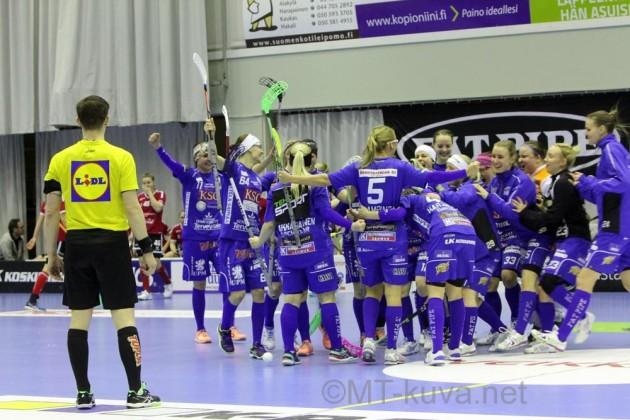 Lappeenrannan NST katkaisi välieräsarjan suoraan kolmessa ottelussa. Arkistokuva: Markku Taurama