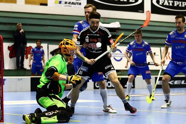 Janne Hyvönen oli kuumassa vireessä läpi pudotuspelien. Kuva: Salibandyliiga