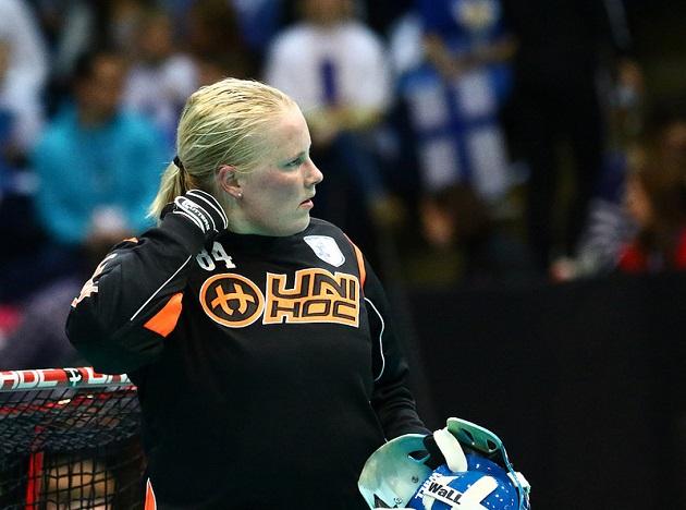 Jonna Mäkelä. Maailman paras maalivahti. Kuva: IFF