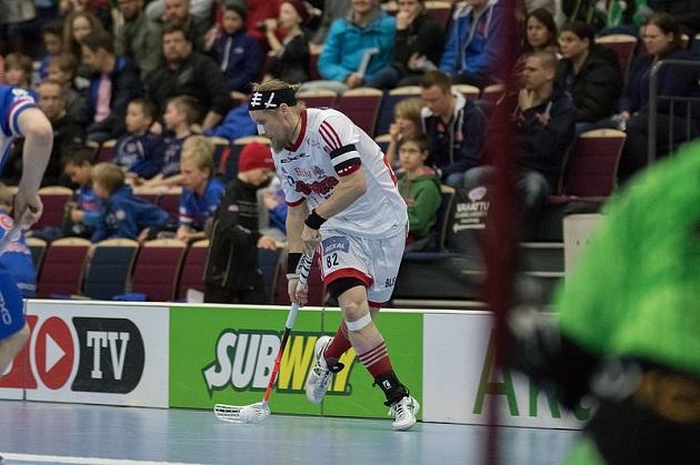Mikael Järvi ei vielä sunnuntaina osannut sanoa mitään uransa jatkosta. Kuva: Salibandyliiga