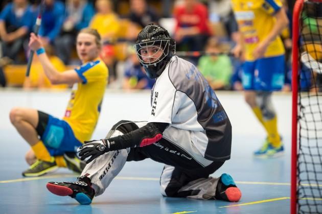 1995 syntynyt Ville Mestari pelasi vahvan kauden OLS:n tolppien välissä. Pääkallo.fi arvosti hänet kauden viidenneksi parhaaksi liigatorjujaksi. Kuva: Jari Turunen
