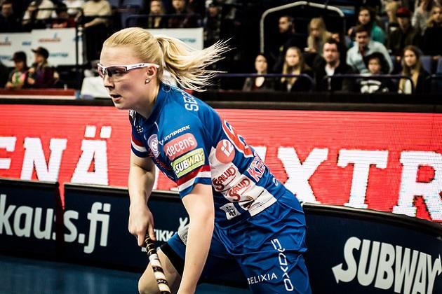 Classicin Siru Kekkonen on nyt ensimmäistä kertaa naisten salibandymaajoukkueen mukana. Kuva: Anssi Koskinen