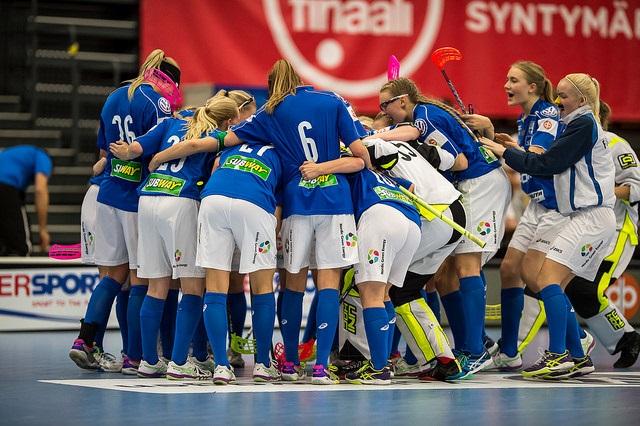 Suomi pelaa ensi viikolla tyttöjen MM-kisoissa Kanadassa. Kuva: Salibandyliiga