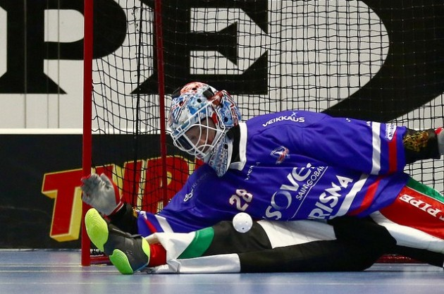 SPV:ssä useana kautena torjunut Jarno Ihme oli Suomen ykkösmaalivahti vuoden 2003 kisoissa. Kuva: Juhani Järvenpää