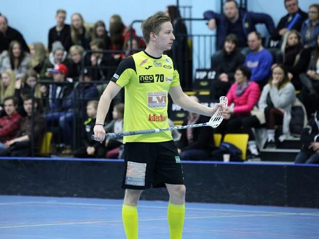 Antti Vuorinen pelaa ensi kaudella Salibandyliigaa SalBan riveissä. Kuva: Jarmo Jokila