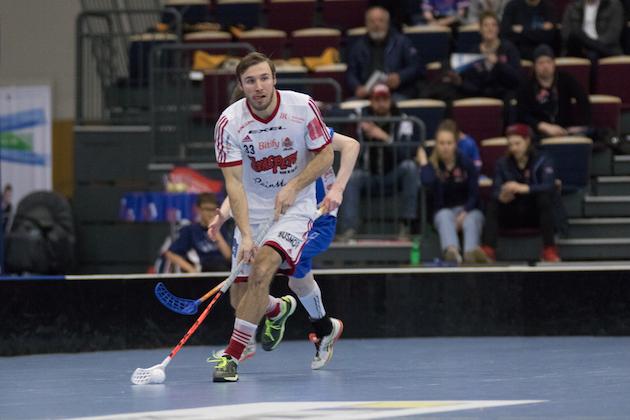 Mikael Lax pelaa ensi kaudella Floorball Thurgaun riveissä. Kuva: Juhani Järvenpää.