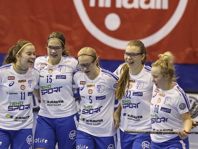 Suomi pelaa keskiviikosta eteenpäin U19-tyttöjen MM-kisoissa Kanadan Bellevillessä. Kuva: Salibandyliiga
