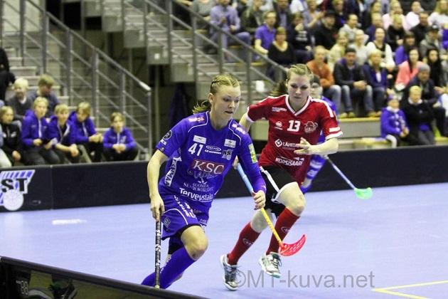 Kokenut Mia Karjalainen (vas.) on tärkeä vahvistus PSS:lle. Kuva: Markku Taurama