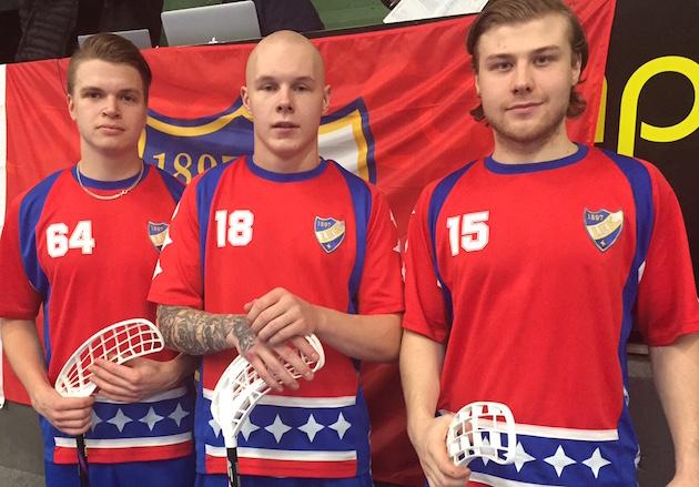 Tältä triolta HIFK odottaa tehoja alkavalla kaudella. Asko Santero (vas.), Ville Räkköläinen (kesk.) ja Marko Vaitio olivat viime keväänä avainroolissa, kun HIFK nousi karsintojen kautta sarjaporrasta ylemmäs.
