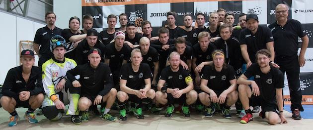 Happeen ryhmä Tallink Floorball Tournamentisssa. Kuva: Topi Naskali