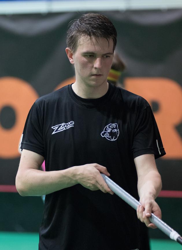 """Jalo Kouvonen jätti SPV:n """"koirankopin"""" taakseen ja nauttii taas pelaamisesta. Kuva: Topi Naskali"""