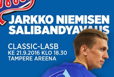 Classicin kauden avausottelua mainostetaan seuraavin saatesanoin. Kuva: Toni Lötjönen/Twitter