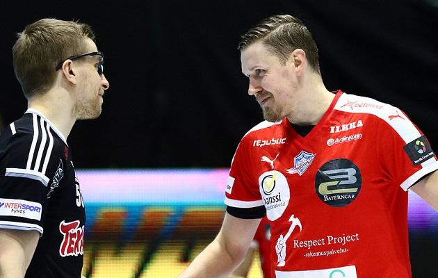 Kaiken nähneet ja kokeneet Teto Tiitu ja Mika Kohonen ovat mukana syyskuun Ruotsi-otteluissa. Kuva: Salibandyliiga