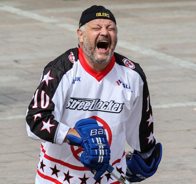 Viiden Stanley Cupin miestä nauratti. Kuva: Mika Hilska