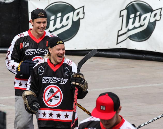 JVG:n VilleGallella oli hymy herkässä. Kuva: Mika Hilska
