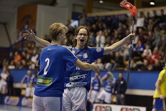 Justus Kainulainen iski pisteet 2+2 Latvian U19-maajoukkuetta vastaan. Kuva: Olli Laukkanen