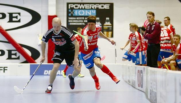 Jukka-Pekka Pelto-Arvo (oik.) osui kahdesti kun Suomen U23-maajoukkue kaatoi Norjan maalein 6-5. Kuva: Juhani Järvenpää