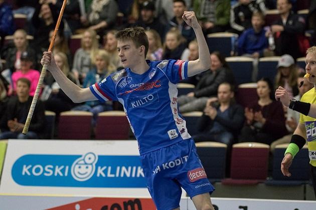 Atte Eronen oli Suomen tehopelaaja, kun Suomi löylytti Saksaa lukemin 26-0. Kuva: Topi Naskali