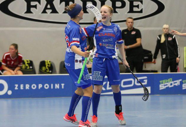 Eliisa Alanko teki Classicin voittomaalin perjantaina. Kuva: Esa Takalo