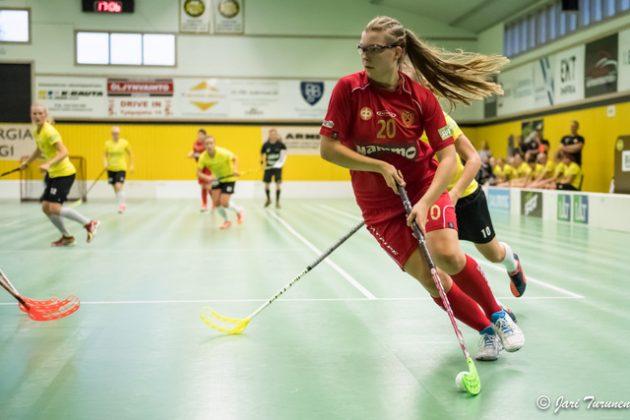 Tampereen Kooveeta edustava Mia Vallenius debytoi naisten maajoukkueessa. Kuva: Jari Turunen