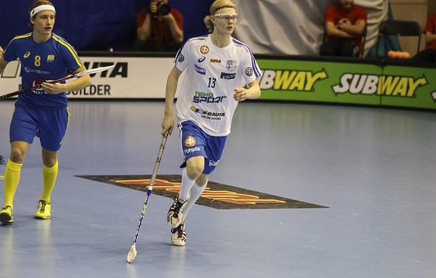 Joona Rantala on ainoa ulkomailla pelaava, joka valittiin tuoreimpaan U19-maajoukkueeseen mukaan. Kuva: Olli Laukkanen