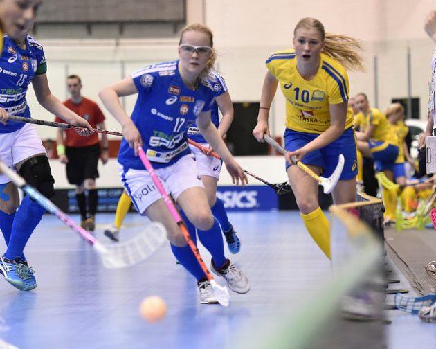 Suomen U19-tytöt avasivat turnauksen Ruotsi-voitolla. Arkistokuva: IFF