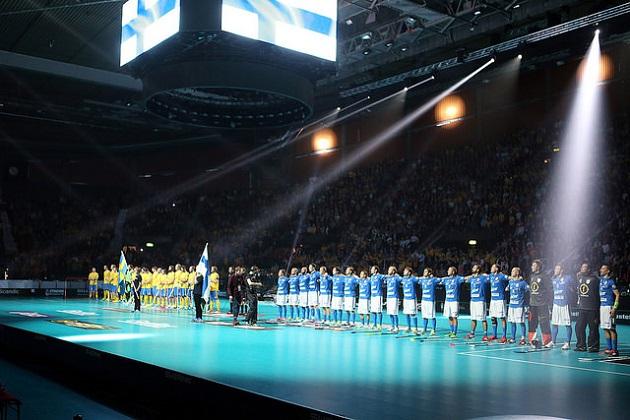 Salibandyn MM-kisojen finaali näytetään Olympic Channelissa. Viime MM-finaalissa kohtasivat Suomi ja Ruotsi. Kuva: IFF