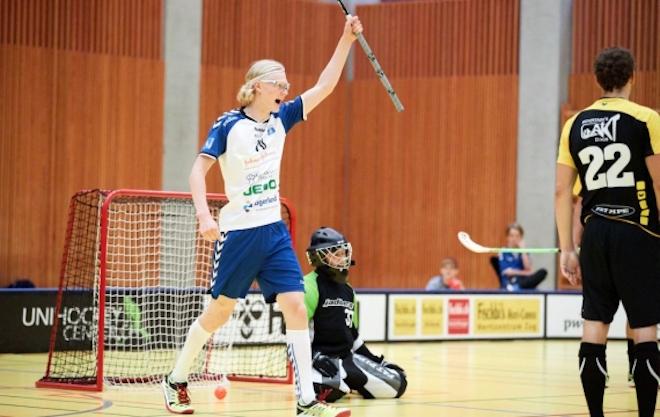 Joona Rantala on viidentenä NLB:n pistepörssissä. Kuva: Michael Peter / Unihockey.ch