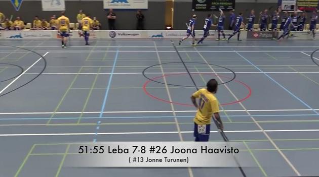 LeBa SB voitti päätöserän Loviisassa 0-5. Kuva: Kuvakaappaus videolta