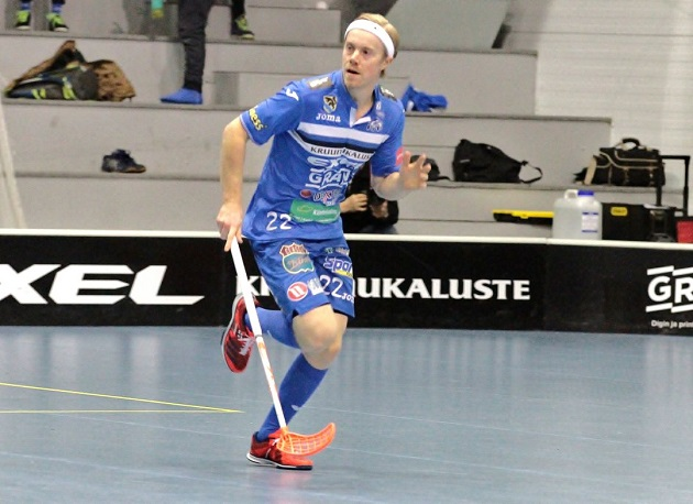 Jere Oksanen osui kahdesti OLS:n verkkoon. Kuva: Anne Pohjonen