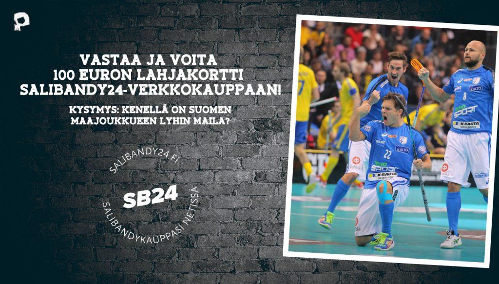Pääkallo.fi:n lukijakilpailun palkintona on 100 euron lahjakortti Salibandy24-verkkokauppaan.