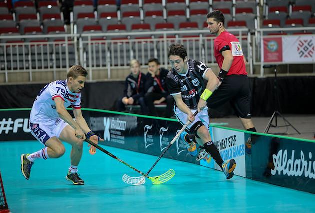 Mikko Vähä-Vahe pelaa Yhdysvaltojen riveissä jo kolmansiaan MM-kisoja. Kuva: IFF