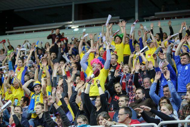 Suomen ja Ruotsin välistä MM-finaalia todisti Riiassa paikan päällä 8350 katsojaa. Kuva: IFF