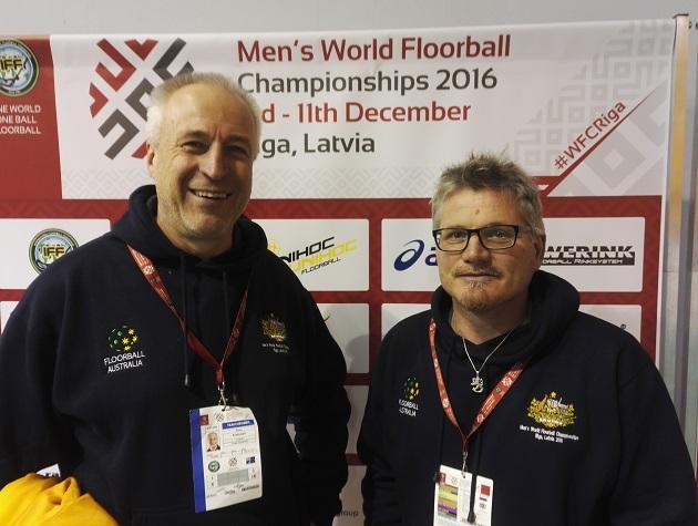 Samu Kuitunen ja Petteri Nykky luotsaavat MM-kisoissa Australian joukkuetta. Kuva: Henri Pitkänen